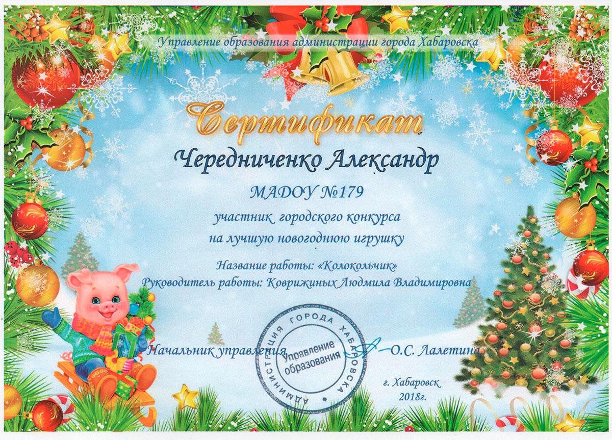 Сертификат Чередниченко
